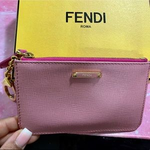 Fendi Crayons Key Chain/Coin Purse/Card Holder